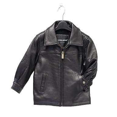 Amazon.com: Childrens Genuine Lambskin Black Leather Jacket: Clothing