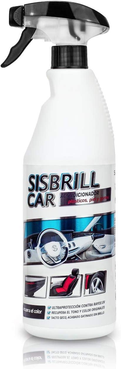 Sisbrill Car, Acondicionador Multi-Top de Salpicaderos, Plásticos y Piel - Abrillantador Satinado - Tacto Seco - 750 ml