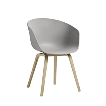 About A Chair 22 Armchair.Hay About A Chair 22 Fauteuil Structure Chene Clair Gris Lxpxh