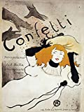 """This 8"""" x 10"""" canvas art print of Confetti by Henri Toulouse-Lautrecis created on the finest quality artist-grade canvas, utilizing premier fade-resistant archival inks that ensure vibrant lasting colors for years to come. Your canvas print will be ..."""