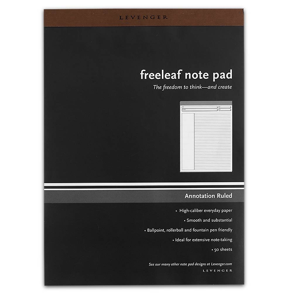 Levenger Freeleaf Annotation Ruled Pads, Letter (5) (ADS5580 LTR) by Levenger