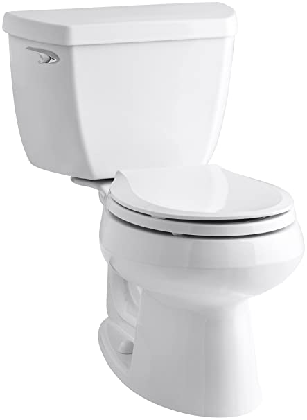 Kohler K-3577-0 Wellworth Classic 1.28 gpf Round-Front Toilet with ...