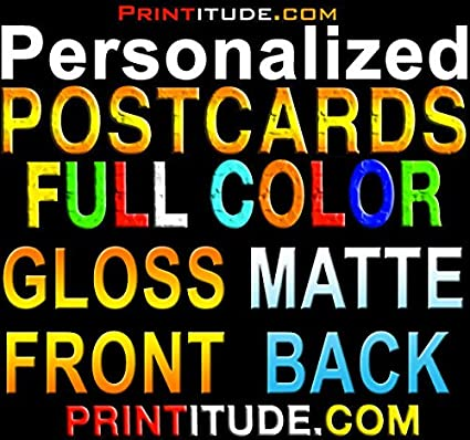 amazon com personalized 10000 postcards full color gloss front