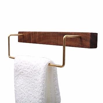 Lhbox Tap Minimalistische Handtuchhalter Black Walnut