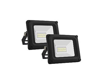 Set di 2 faro led floodlight pegaso da esterno ip65 10w 600 lumen