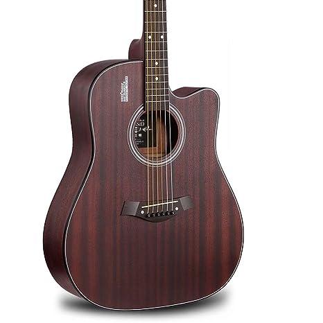 Miiliedy Proceso totalmente cepillado a mano Guitarra acústica de 41 pulgadas Principiante Estudiante Hombre Mujer Guitarra