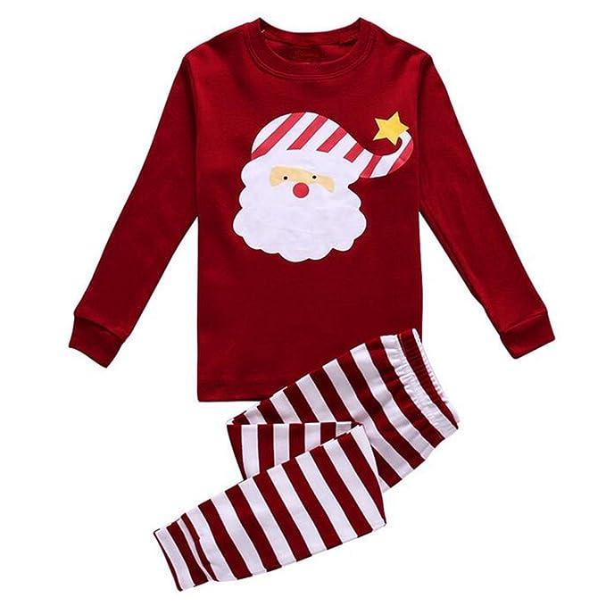 Unisex Pijamas de algodón para niños - hibote Chicos Ropa de dormir para niñas Navidad Halloween