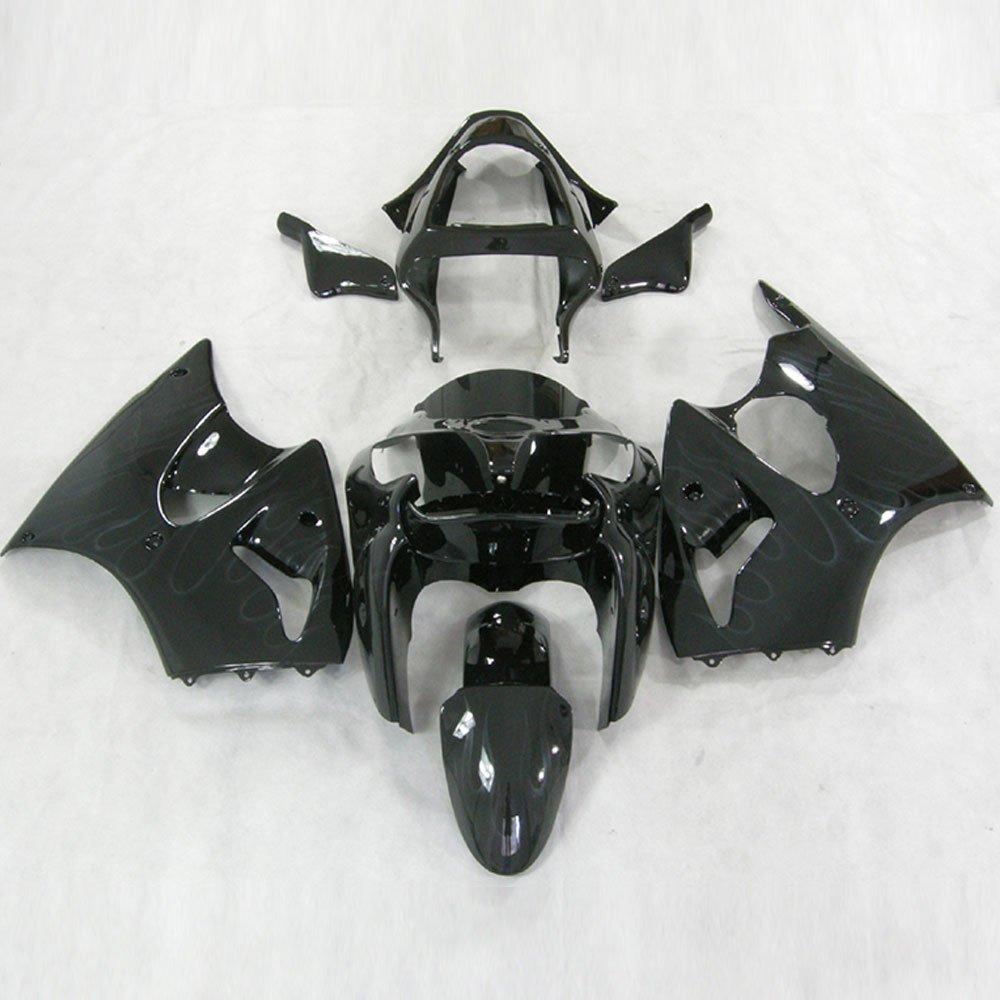 Amazon.com: Moto Onfire Black Plastic Bodywork Fairings Kit ...