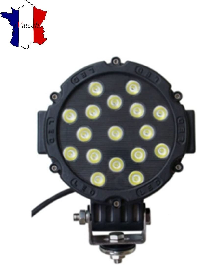 IVATECH 1 X 51W 3700lm Eclairage Auto Phare 12V 24V 4x4 Quad Tracteur Camion ATV Offroad