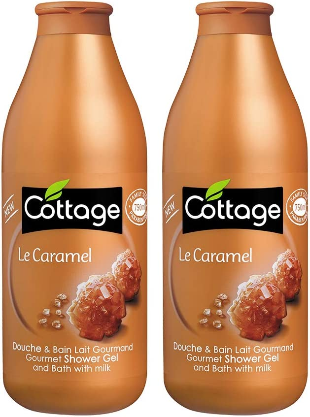 Cottage Gourmet Shower Gel And Bath With Milk Caramel - Pack Of 2