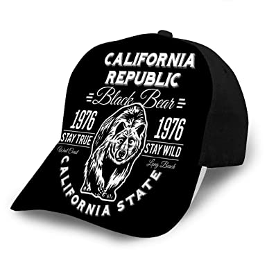 axdvxydy Baseball Cap Hats Snapback California Republic Vintage ...