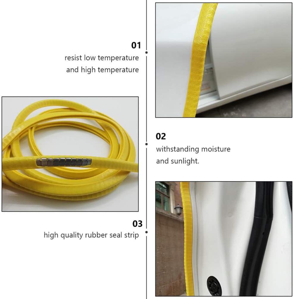 Wakauto Gardes de Bord de Porte de Voiture Garniture de Bord en Forme de U Protecteur de Joint en Caoutchouc Clips en Caoutchouc Anti-Collision Adapt/és /à La Plupart Des Voitures Jaunes