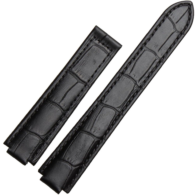 zhuolei 18 x 11 mm、20 x 12 mm GenuineレザーバンドストラップGeneric for Cartierスタイル 20x12mm ブラック  ブラック 20x12mm B078MJZXS3