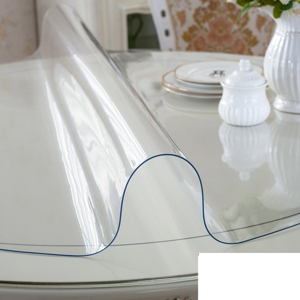 Round Table Water,Oil-proof,Disposable PVC Table Mat-hotel Coffee Table Pad-A 140cm(55inch) by LWZY TableCloths