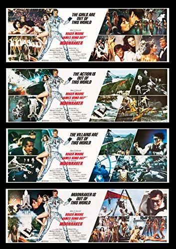 Banner Bond (MOONRAKER * CineMasterpieces ORIGINAL MOVIE POSTER BANNER SET OF 4 JAMES)