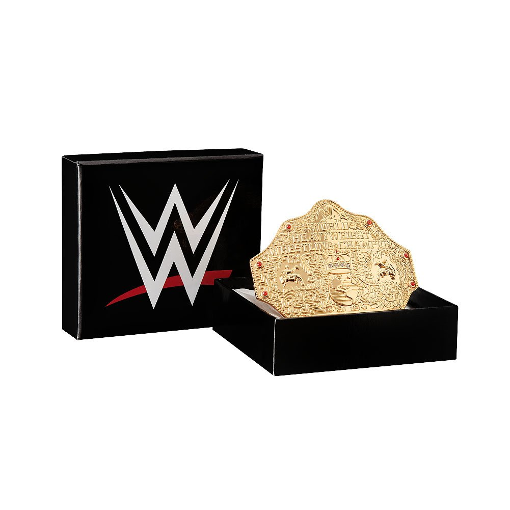 WWE World Heavyweight Championship Belt Buckle Gold by WWE Authentic Wear