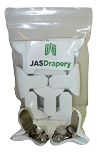 8 Pack of JAS Drapery Padded Comforter Clips, Prevents Comforters From Shifting Inside Duvet Cover