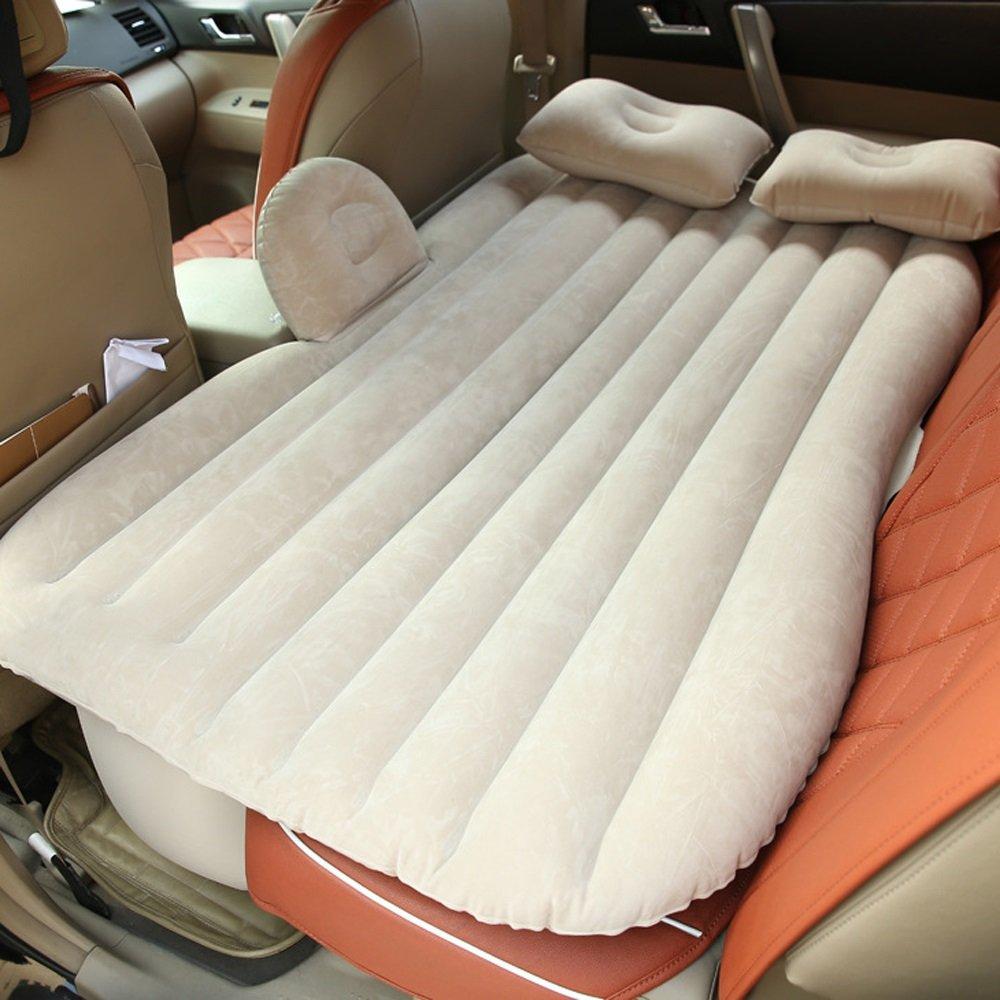 Ye Auto Matratze Auto Luft Bett Multifunktionale Reise Camping Auto Hinten Sitz Aufblasbare Matratze Für Reise und Schlaf Rest (L135cm  W85cm  H45cm) (Luftbett × 1 Kissen × 2 Auto Luftpumpe × 1)