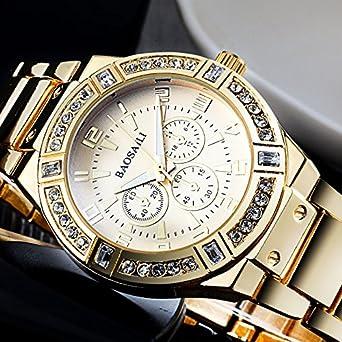 Amazon.com: Reloj Women Relojes De Mujer En Oferta Moda Fashion Dorados Quartz Regalos para Mujer EB0035: Watches
