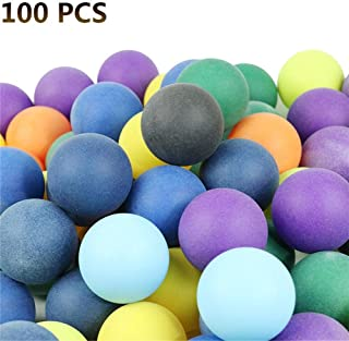 wangwtry 100 Palle da Ping Pong, Palle da Ping Pong Colorate 40mm 2.4g, Palline da Ping Pong da intrattenimento, Palline Colorate per Gioco e pubblicità