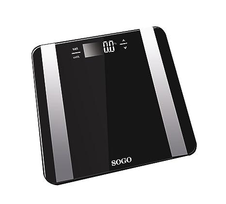 Sogo BAB-SS-3980 - Bascula de Baño Digital con medidor de grasa y