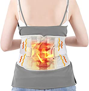 Graphene Waist Heating Pad Lower Back Heating Heat Patches Wraps Belt Wrap with Adjustable Strap Contoured for Back Pain Relief