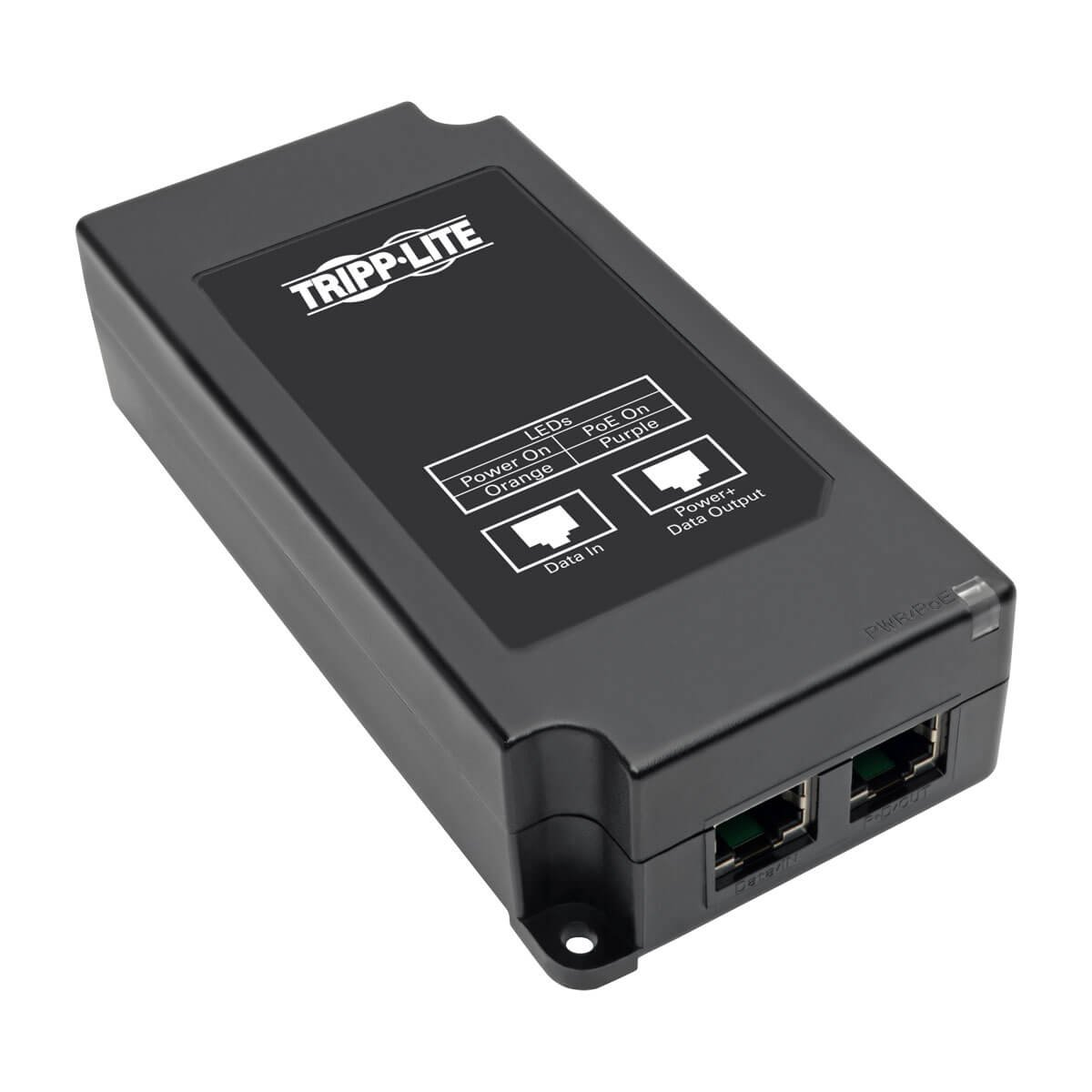 Tripp Lite Gigabit PoE+ Midspan Active Injector - IEEE 802.3at / 802.3af, 30W, 1 Port, Power Over Ethernet (NPOE-30W-1G)