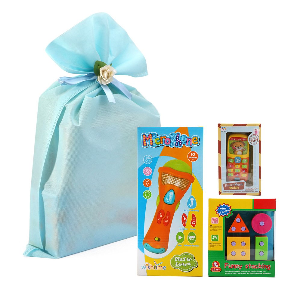 Gift Bag Toys : Microphone mobile stacker kids toys gift set pack of