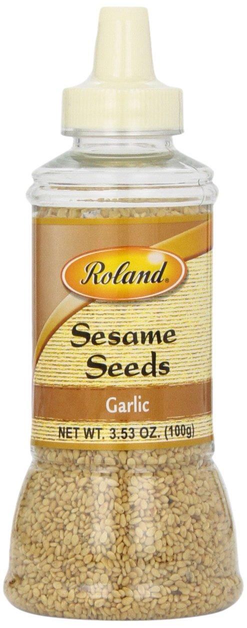 Roland Sesame Seeds, Garlic, 3.53 Ounce (Pack of 6)