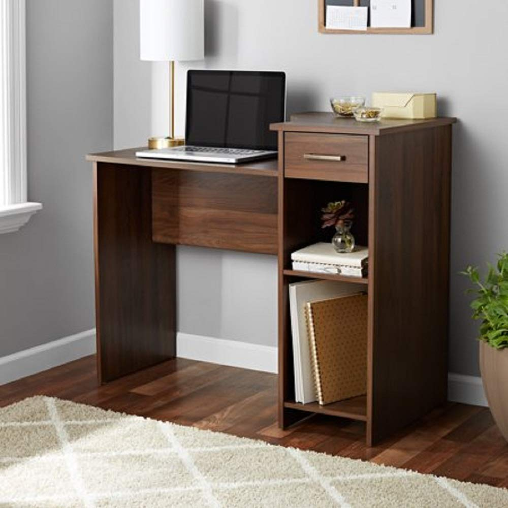 Toys & Child Mainstays Student Desk (White) (Desk ONLY Walnut)