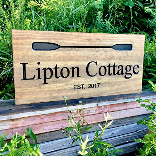 - Personalized Wooden Sign Custom Cabin Sign Family Established Date Outdoor Wood Sign