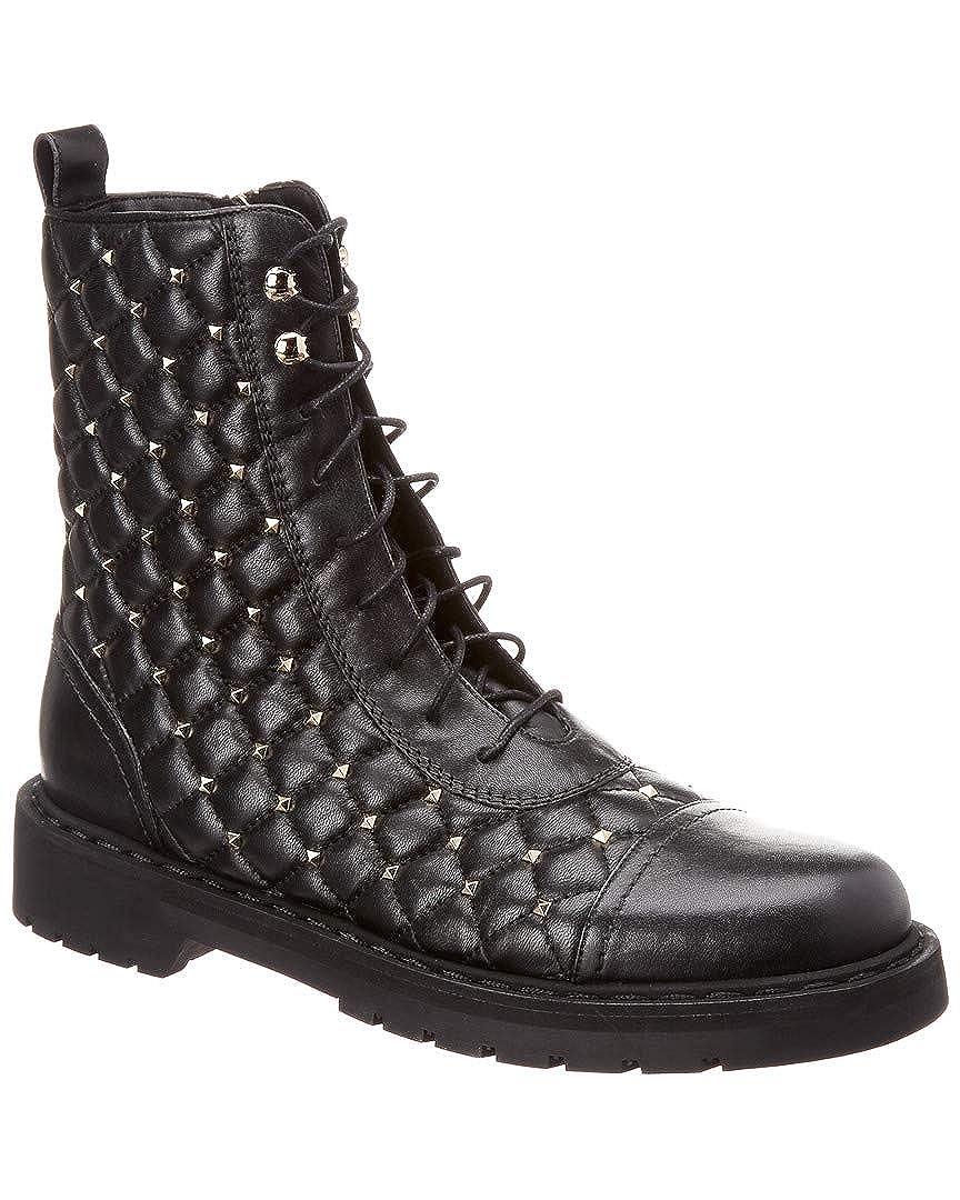 66f68523134 Amazon.com   VALENTINO Rockstud Spike Leather Combat Boot, 35.5 ...