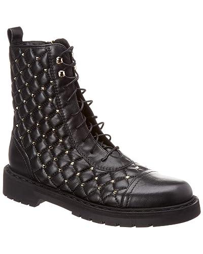 087858f1c9b Amazon.com | VALENTINO Rockstud Spike Leather Combat Boot, 35.5 ...