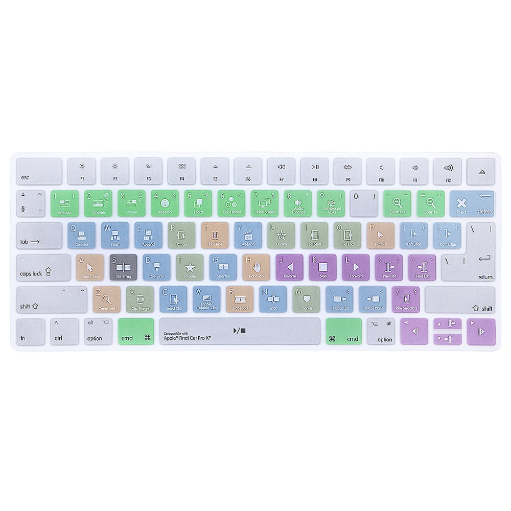 ProElife Ultra Thin Silicone Keyboard Protector Cover Skin for Apple iMac Magic Wireless Bluetooth Keyboard MLA22L/A (A1644, 2015 Released) U.S Layout, Semi-Transparent Clear