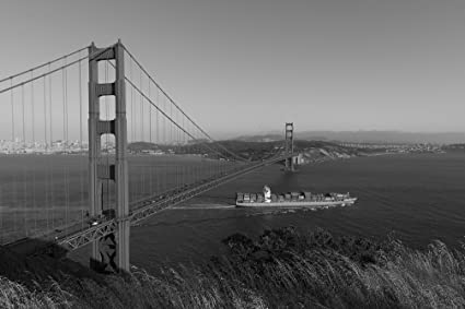 Amazon Com Vintography 8 X 12 Black White Photo Golden Gate