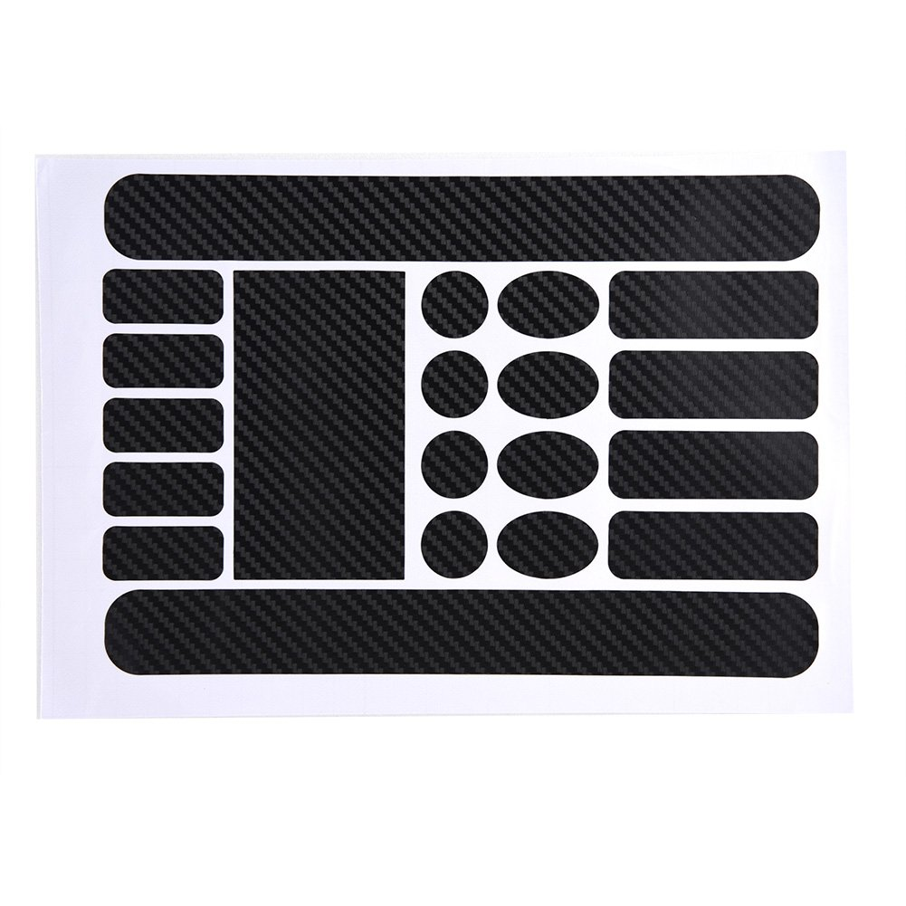 20Pcs Bicycle Chainstay and Frame Protectors Decal Stickers Kit Including Ovals Carbon Circles Rectangle and Strip Shapes