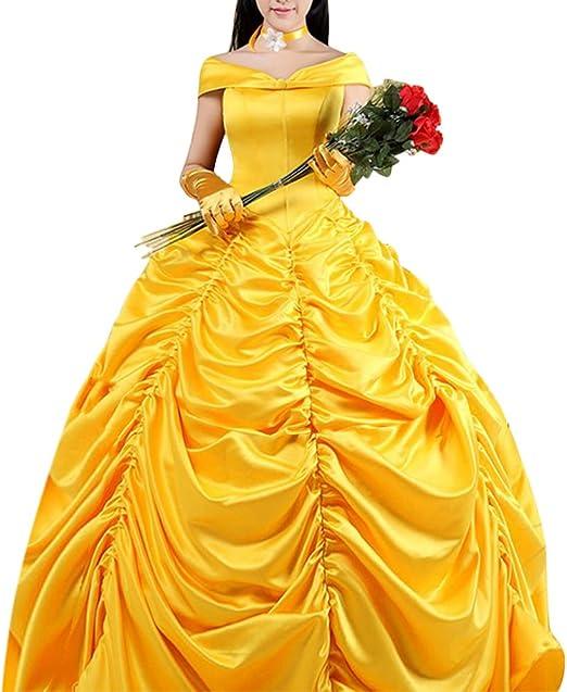 Compra Bella y la bestia Princesa Belle vestido Disfraz Cosplay ...