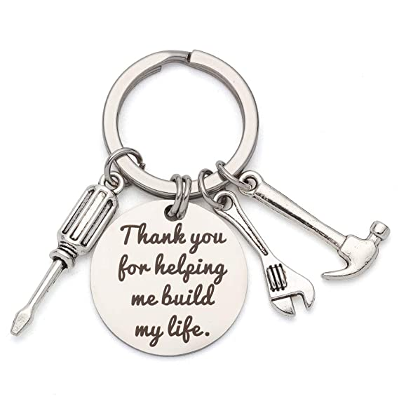 Personalized Father Gift GodFather Gift Father In Law Gift Step Daddy Key Chain Bonus Dad Gift Keychain,Step Dad Gift,Father/'s Day Gift