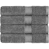 """700 GSM Premium Hotel & Spa Towels Set (Grey, 4 Pack, 27"""" X 54"""") - Cotton for Maximum Softness and Absorbency by Utopia Towels"""