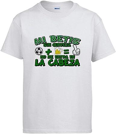 Camiseta Mi Betis sin Cerveza no me entra en la Cabeza: Amazon.es ...