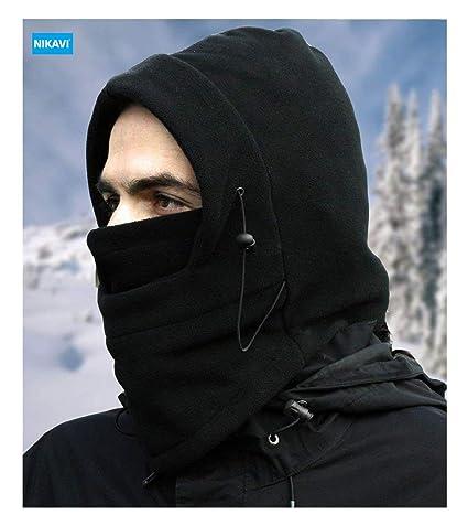 c1f440fd9 NIKAVI Balaclava Mask Face Ski Neck Muff Full Winter Cap Fleece Outdoor  Protecting Hat Cover