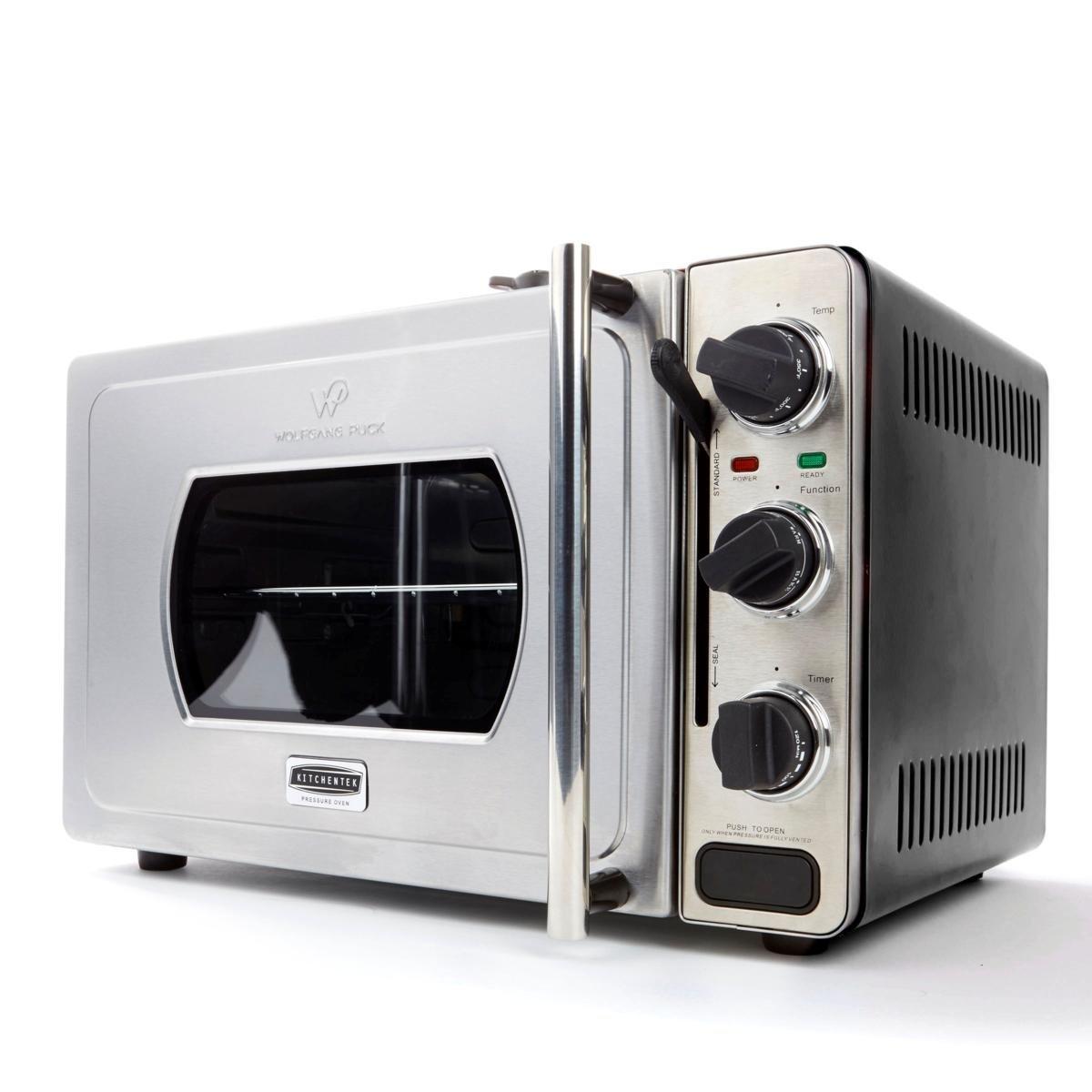 Wolfgang Puck Large 29-Liter Rotisserie Pressure Oven 558-674, Black
