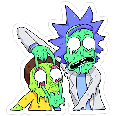 BreathNenStore Rick and Morty Rick and Morty Season 4 Stickers (3 Pcs/Pack) 4347130733867: Kitchen & Dining