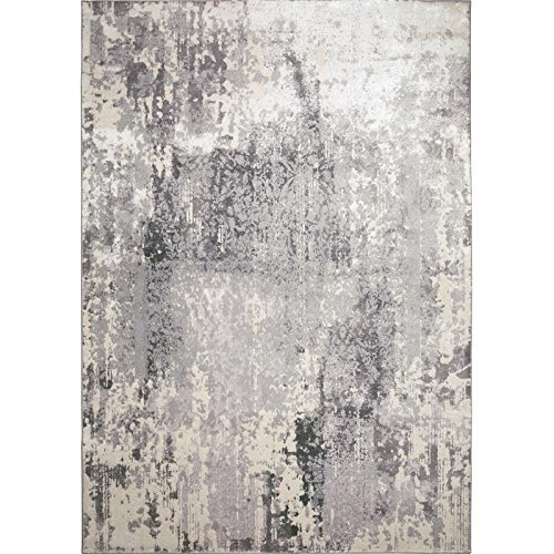 Jersey Area Rug by Christian Siriano and Home Dynamix | Traditional Motifs, Classic Style, Monochromatic Color Scheme | Vintage Look, Distressed Indoor Rug | Resistant and Durable by Home Dynamix