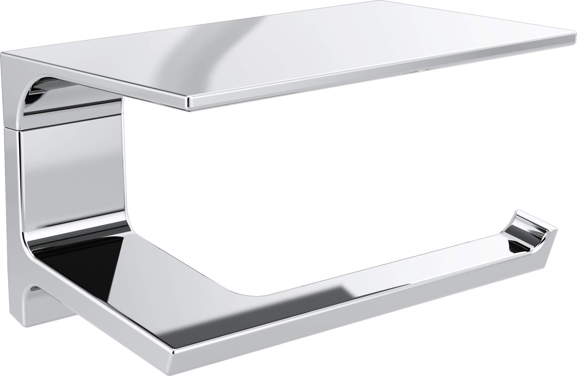 Delta Faucet 79956 Pivotal 7'' Wall Mount Tissue Holder with Shelf