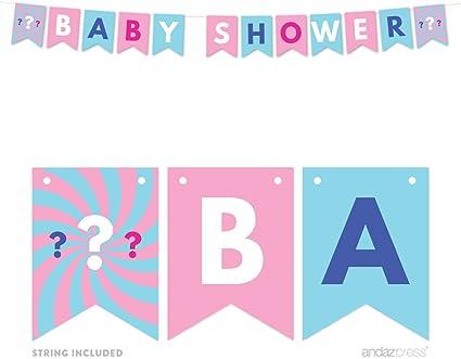 Pink or Blue We love you Gender Reveal Decor Pink or blue baby banner