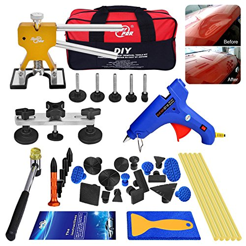 AUTOPDR 40pcs DIY Paintless Dent Removal Tool Kit for Automobile Body Motorcycle Refrigerator Washing Machine (Pdr Dent Removal)