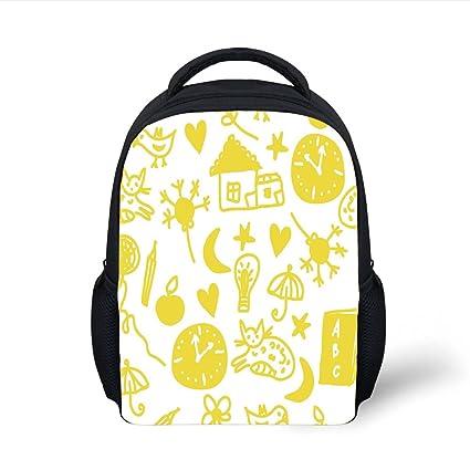 Amazon.com  iPrint Kids School Backpack Yellow and White cd69f833ed163