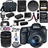 Canon EOS 7D Mark II DSLR Camera with 18-135mm STM Lens 9128B016 + Canon W-E1 Wi-Fi Adapter + LPE-6 Lithium Ion Battery + Sony 128GB SDXC Card + Flexible Tripod + Universal Slave Flash unit Bundle