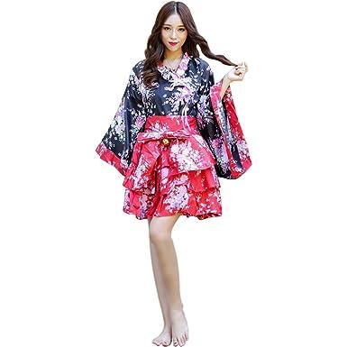 Mujeres Traje de Criada Tradicional Japonesa Kimono Flores de ...